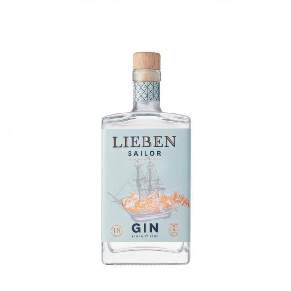 Bouteille de Gin Lieben parfum Sailor sur le site Wild african Gin