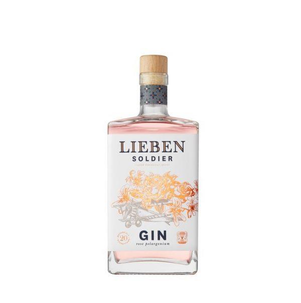 Bouteille de Gin Lieben parfum Soldier sur le site Wild african Gin