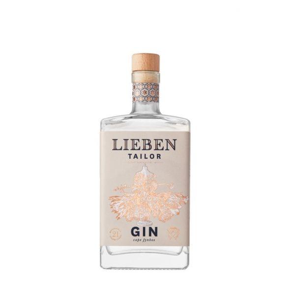 Bouteille de Gin Lieben parfum Tailor sur le site Wild african Gin