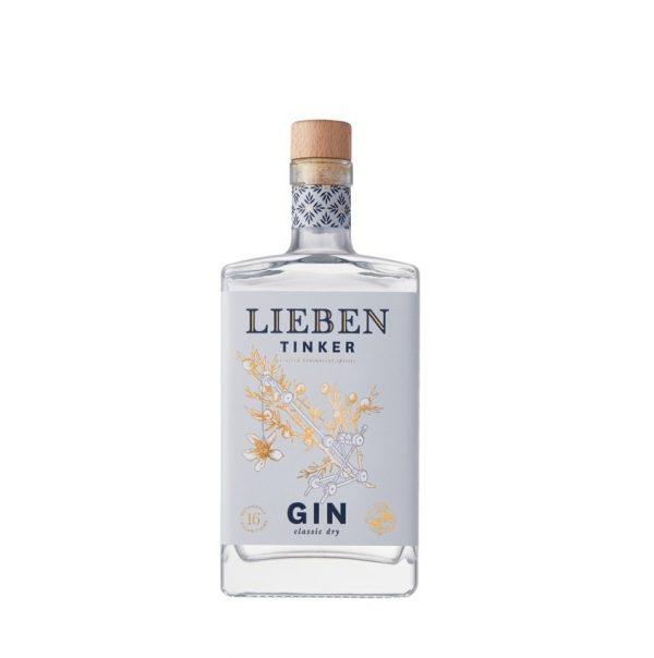 Bouteille de Gin Lieben Tinker sur le site Wild african Gin