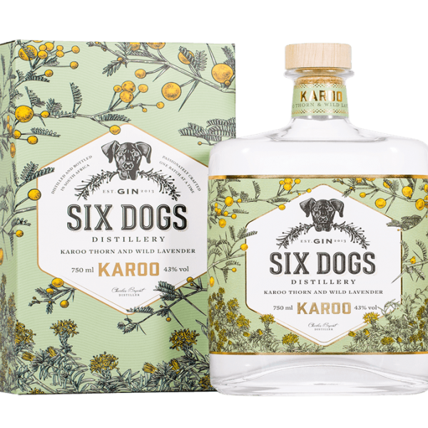 Bouteille de six dogs karoo avec son packaging